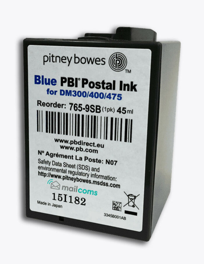 Pitney Bowes DM300M Ink / DM400M Ink - Authentic Smart Blue Ink Cartridge