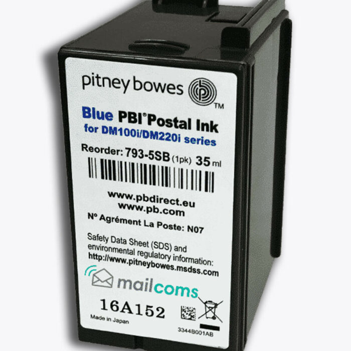 Pitney Bowes SendPro C Ink - Authentic Smart Blue Ink Cartridge