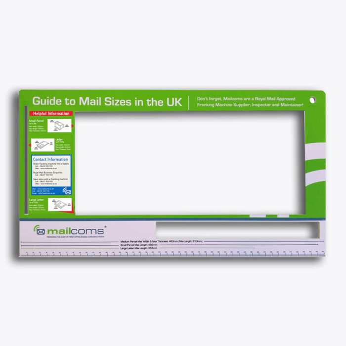 Royal Mail Size Guide Ruler - Including Small & Medium Parcel Sizes