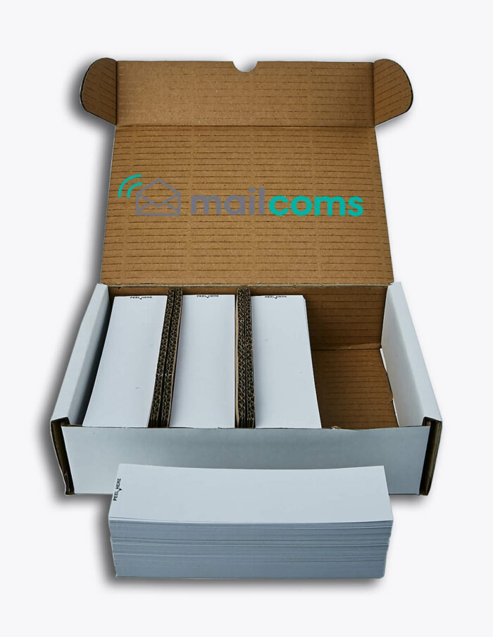 1000 Pitney Bowes 'Single Cut' Franking Labels